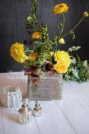 メタリックコントラストフラワー Metallic contrast flower